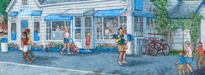 Four Seas Ice Cream Painting